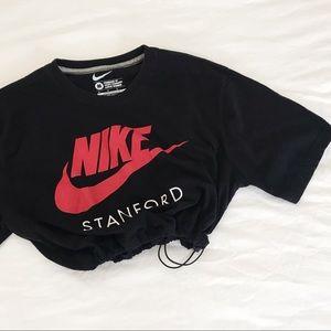 Vintage Nike drawstring crop tee
